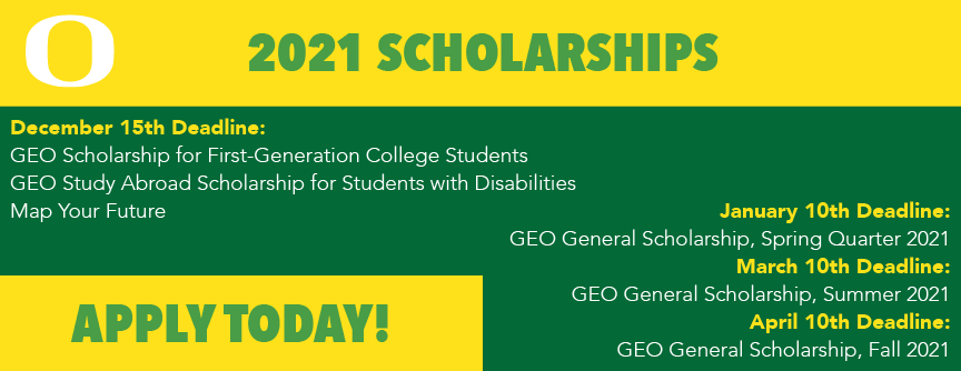 dates for 2021 scholarships