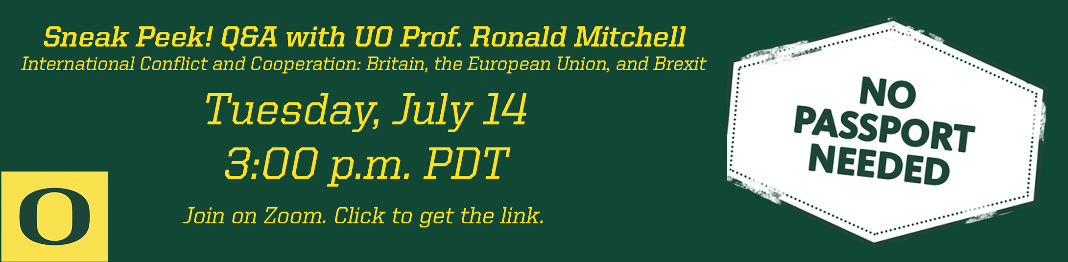 Sneak Peak! Q&A with Professor Mitchell on July 14 at 3 pm. Click the image to get the zoom link