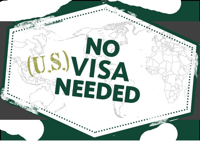No (US) Visa Needed logo