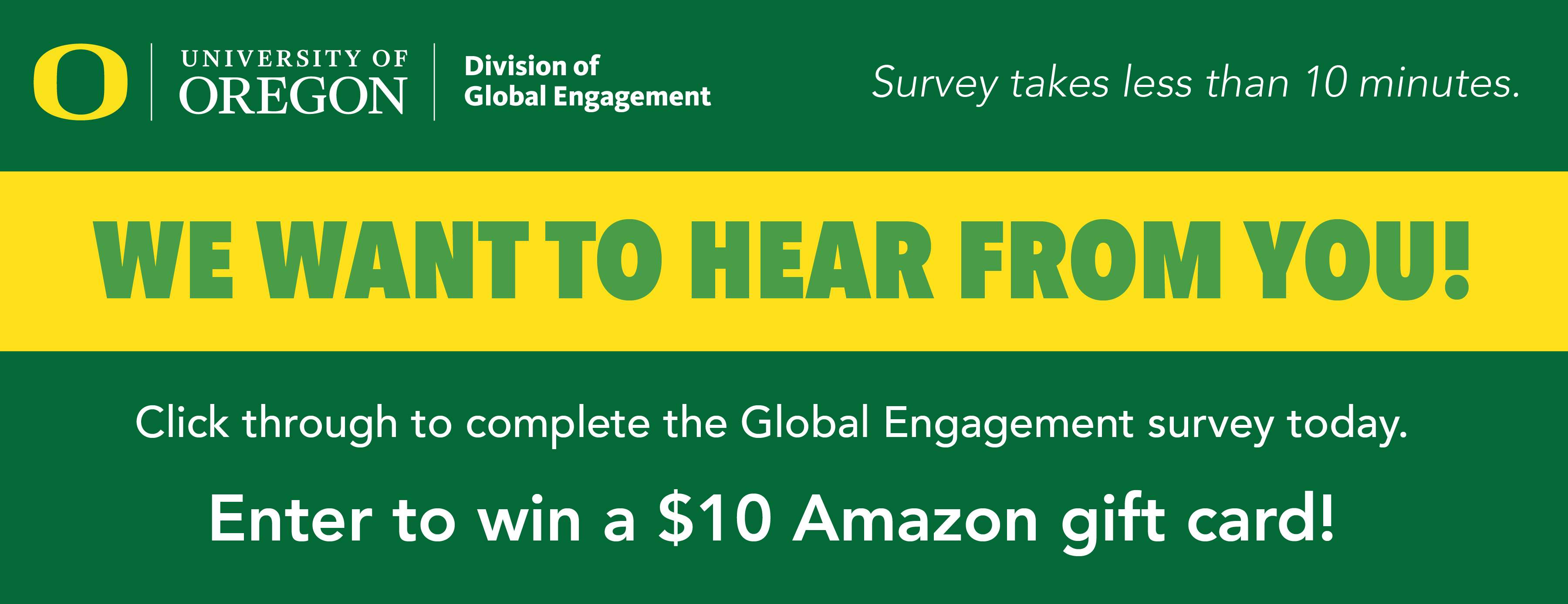 complete the global engagement survey