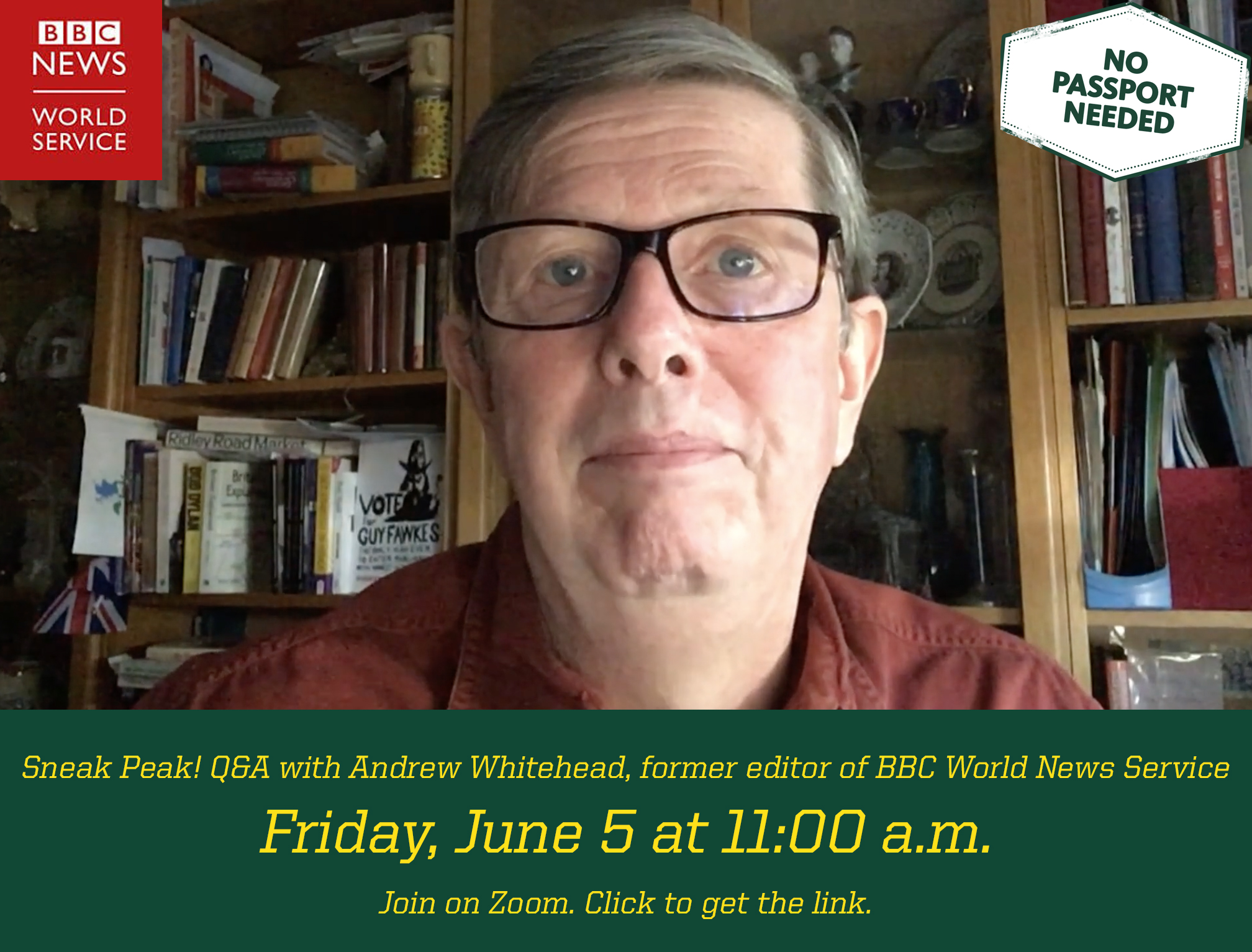 Sneak Peak! Q&A with Andrew Whitehead on Friday, June 5 at 11 am. Click the image to get the zoom link